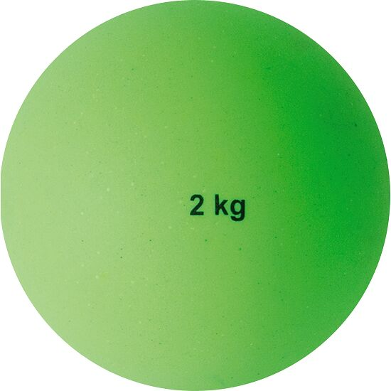 Sport-Thieme Plastic Shot Put 2 kg, green, ø 114 mm