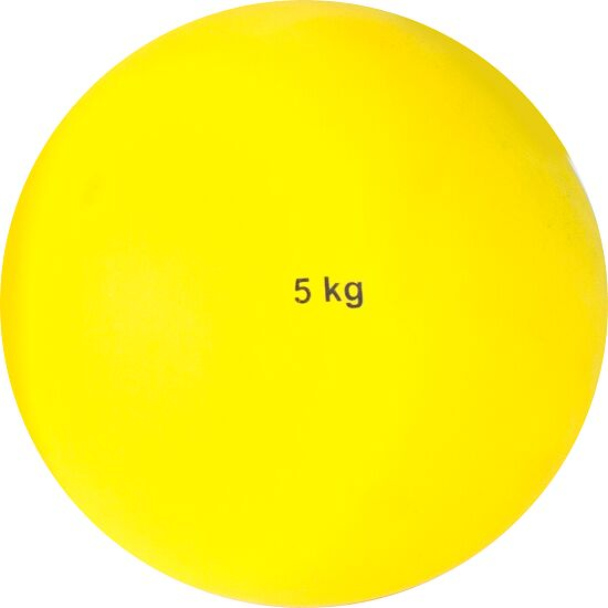 Sport-Thieme® Plastic Shot Put 5 kg, yellow ø 135 mm