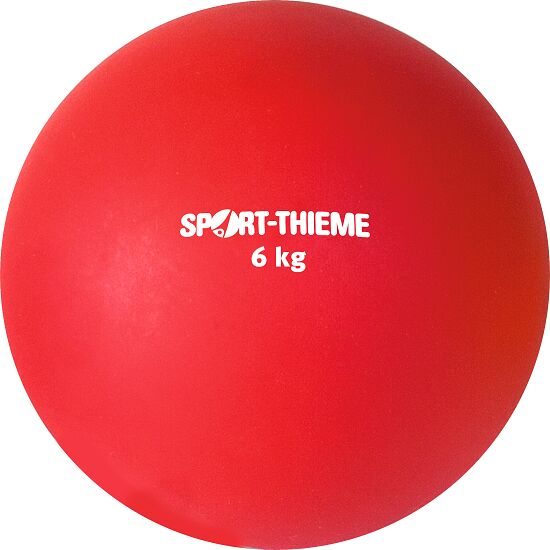 Sport-Thieme® Plastic Shot Put 6 kg, red ø 140 mm