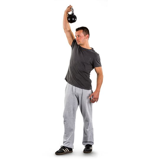 Sport-Thieme Rubberised Kettlebell with Chrome Handle 4 kg