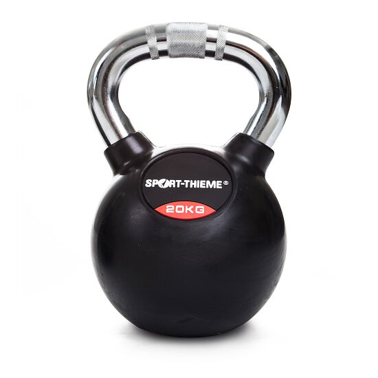 Sport-Thieme Rubberised Kettlebell with Chrome Handle 20 kg