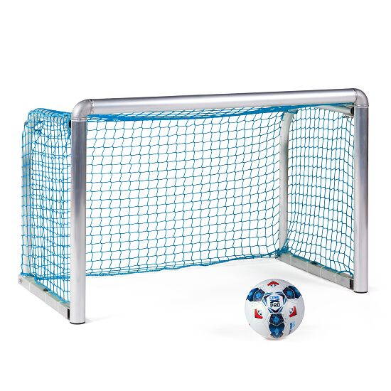 Sport-Thieme Safety Aluminium Mini Training Goal 1.2x0.8 m, goal depth 0.7 m, Incl. net, blue (mesh width 4.5 cm)