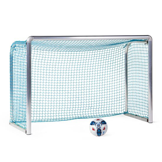 Sport-Thieme Safety Aluminium Mini Training Goal 1.8x1.2 m, goal depth 0.7 m, Incl. net, blue (mesh width 4.5 cm)