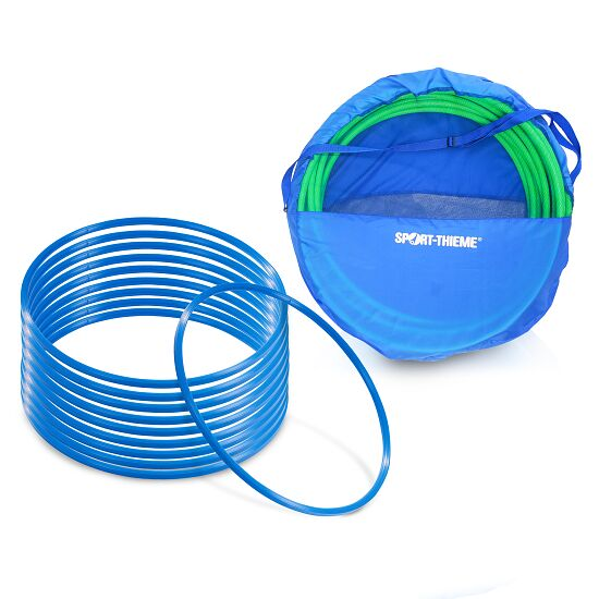 "Sport-Thieme Set of ""80-cm-diameter"" Gymnastics Hoops with Storage Bag Gymnastics Hoops Blue"
