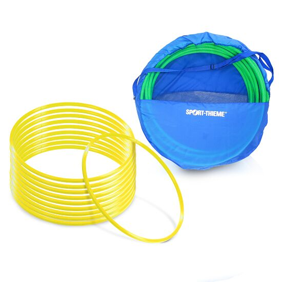 "Sport-Thieme Set of ""80-cm-diameter"" Gymnastics Hoops with Storage Bag Gymnastics Hoops Yellow"
