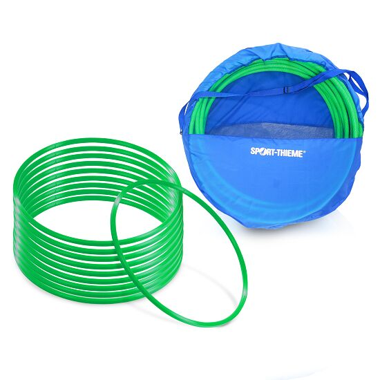 "Sport-Thieme Set of ""80-cm-diameter"" Gymnastics Hoops with Storage Bag Gymnastics Hoops Green"