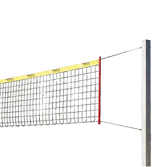 "Sport-Thieme ""Stable"" Beach Volleyball Set Without protective post padding, Net without coating"
