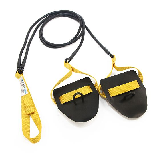StrechCordz® with Hand Paddles Yellow, resistance 2.2-6.3 kg