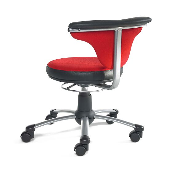 Swivel Stool with Back Handle Red/black