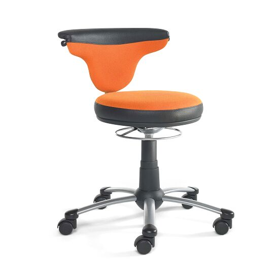 Swivel Stool with Back Handle Orange/black