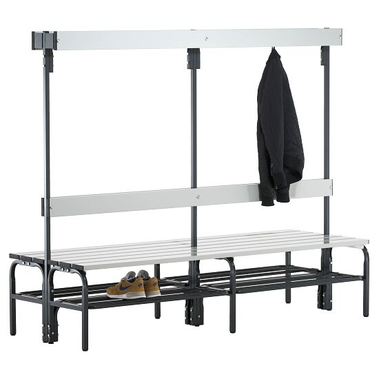 Sypro Wolf Damp Area Changing Bench with Double-Sided Backrest 2.00 m, With shoe shelf