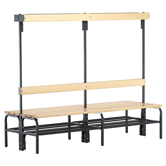 Sypro Wolf® Dry Area Changing Bench with Double-Sided Backrest  1.50 m, With shoe shelf