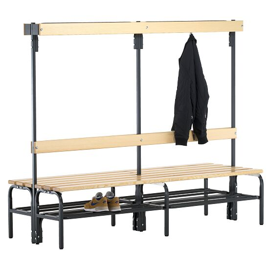 Sypro Wolf® Dry Area Changing Bench with Double-Sided Backrest  2.00 m, With shoe shelf