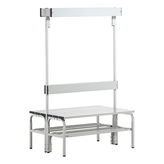 Sypro Wolf® Wet Area Changing Benches with Double Backrest 1.01 m, With shoe shelf