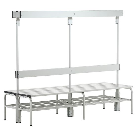 Sypro Wolf® Wet Area Changing Benches with Double Backrest 1.50 m, With shoe shelf