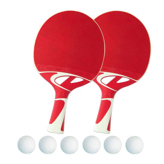 """Tacteo 50"" Table Tennis Bat Set White balls"