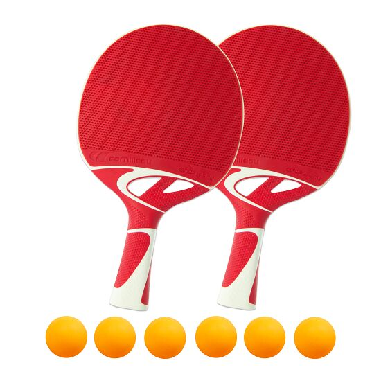 """Tacteo 50"" Table Tennis Bat Set Orange balls"