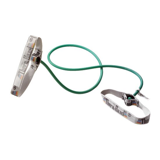 TheraBand™ Bodytrainer Resistance Tube, 1.4 m with Handles Green, high