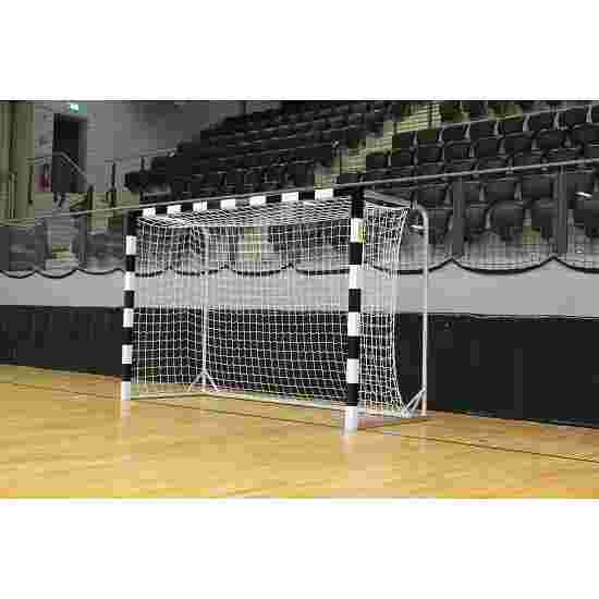 Wrapped Handball Goal With attachable net brackets, Black/white