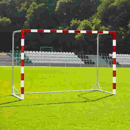 Wrapped Handball Goal With attachable net brackets, Red/white