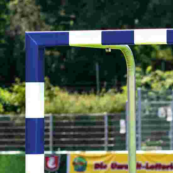 Wrapped Handball Goal With attachable net brackets, Blue/white