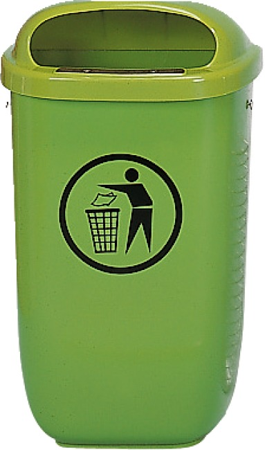 Litter Bin, complies with DIN Standard, Green
