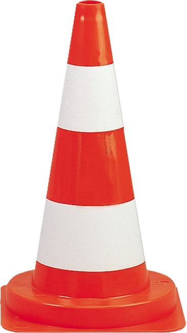 Marking Cone Red/White 29x29x50 cm, without number