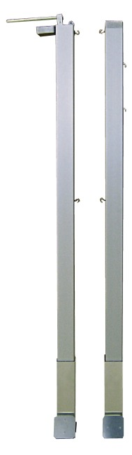 Pair of Badminton Posts containing Tensioning Device 80x80-mm square tubing