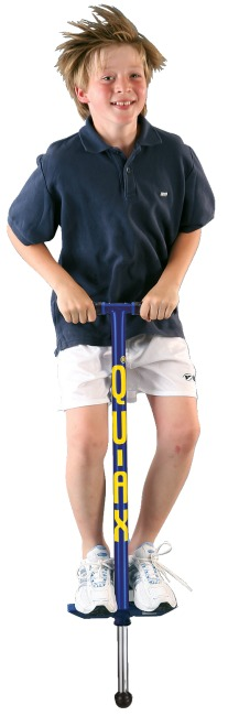 Qu-Ax Pogo Stick Blue, L: 98 cm, up to 50 kg