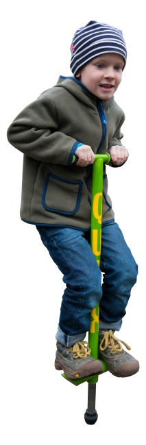 Qu-Ax Pogo Stick Neon green, L: 86 cm, up to 20 kg