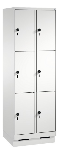 """S 3000 Evolo"" Lockers with Base (3 Lockers Positioned Vertically)"