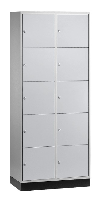"""S 4000 Intro"" Large Capacity Compartment Locker (5 compartments on top of one another) 195x85x49 cm/ 10 compartments, Light grey (RAL 7035)"