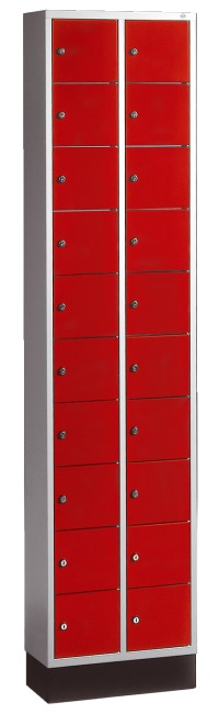 """S 4000 Intro"" Valuables Lockers Fiery Red (RAL 3000)"