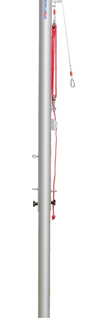 Sport-Thieme Central Volleyball Post, ø 83 mm With pulley system