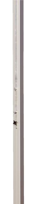 Sport-Thieme Central Volleyball Post, 80x80 mm With spindle tensioning device