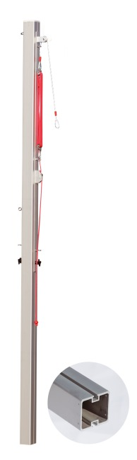 Sport-Thieme Central Volleyball Post, 80x80 mm With pulley system