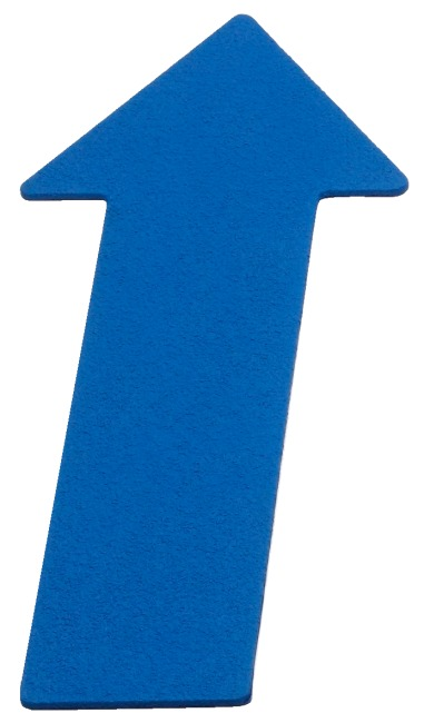 Sport-Thieme® Floor Markers Arrow, 35 cm, Blue