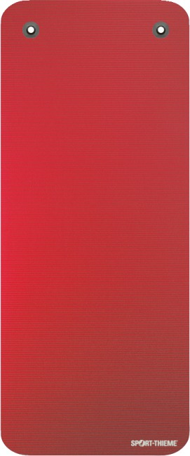 "Sport-Thieme ""Gym 15"" Exercise Mat With eyelets, Red"