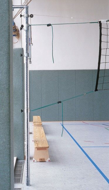 Sport-Thieme® Hook-In Volleyball Posts With tensioning device