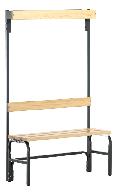Sypro Wolf® Dry Area Changing Bench with Backrest 1.01 m, Without shoe shelf