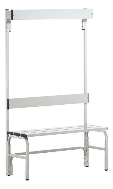 Sypro Wolf® Wet Area Changing Bench with Backrest 1.01 m, Without shoe shelf