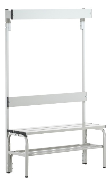 Sypro Wolf® Wet Area Changing Bench with Backrest 1.01 m, With shoe shelf