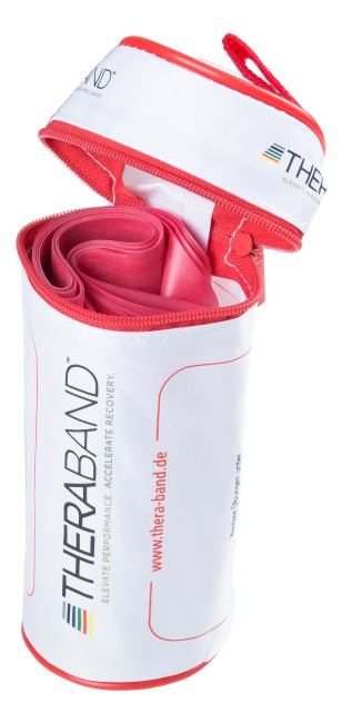 Thera-Band®, 2.5 m in a zip-up bag Red, medium