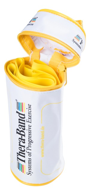 TheraBand™ 250-cm in a zip-up bag Yellow, low