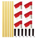 "Sport-Thieme® ""All-Round"" Boundary Pole Set Yellow pole, red/white flag"