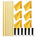 "Sport-Thieme® ""All-Round"" Boundary Pole Set Yellow poles, neon yellow flag"