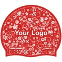 Latex Printed Swimming Cap Red, Double-sided