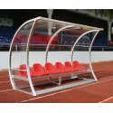 """""""Exclusive"""" Dugout 3.00 m wide, 6 seats, Without foot heating"""