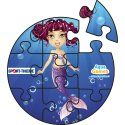 Puzzle Water Game Little Mermaid, Cylinder, Little Mermaid, Cylinder