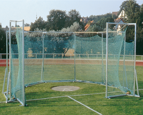 Free-standing Safety Cage for Hammer and Discus Throwing
